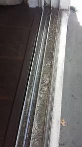 before the rollers wore out and the tenants left the patio door track a mess we fixed it after no replacement sliding
