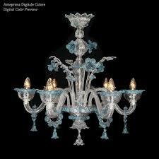 Apollo 5 Light Crystal Chandelier Apollo Murano Chandelier Chandelier Murano Glass