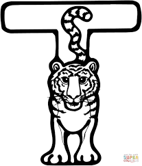 Small Picture Letter T is for Tiger coloring page Free Printable Coloring Pages
