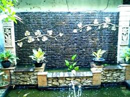 wall waterfall wall water fountain outdoor