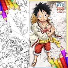 Mô hình giấy Tranh tô màu One Piece TTM-0002 - Kit168.vn Shop Online mô  hình giấy