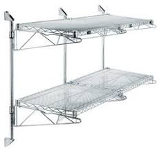 wall mounted wire shelving. Wall Mounted Cantilever Wire Shelf Double Wide 2 System Shelving