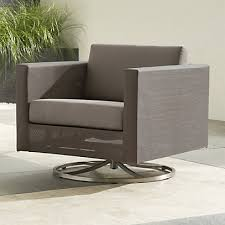 dune taupe outdoor swivel lounge chair