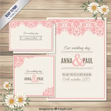 invitations cards free ornamental wedding invitation card vector free download