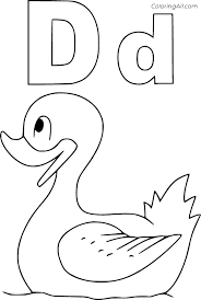 Color pictures, email pictures, and more with these alphabet coloring pages. Swimming Duck And Letter D Coloring Page Coloringall