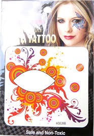 Eye Makeup Sticker Designs Amazon Com Boho Party Eyeliner Eyelid Face Temporary Tattoo