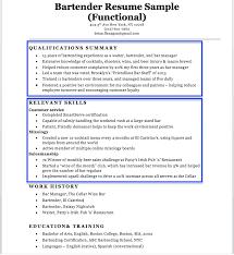 Resume Bartending Resume Examples Economiavanzada Com