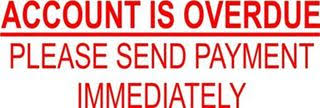 Overdue Account Imprint Rubber Stamps Account Is Overdue