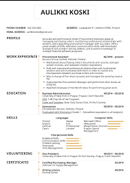Resume Purchasing Resume Examples By Real People Procurement Assistant Resume
