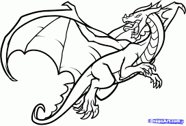 Sketches Of Dragons How To Draw A Flying Dragon Dragon In Flight