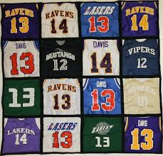 Best 25+ Jersey quilt ideas on Pinterest | Shirt quilt, Top kids ... & 16 square Stadium Quilt with Black backing and sashing A jersey quilt is a  great way Adamdwight.com