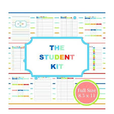 Sample Student Agenda Extraordinary College Student Planner Printable Template Weekly Tangledbeard