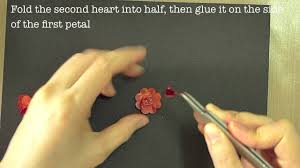 Paper Punches Flower How To Make Paper Flowers With Heart Punch Youtube