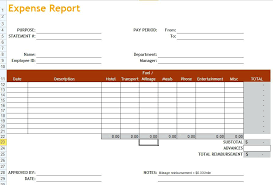 Excel Travel Expense Report Template Free Weekly Expenses Report Template For Excel Recording In
