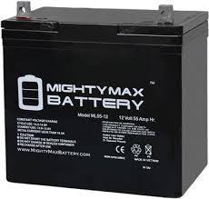 Mighty Max Ml55 12 12v 55ah Agm Deep Cycle Battery
