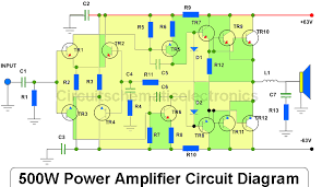 500w power amplifier circuit diagram dol circuit 500w power amplifier circuit diagram