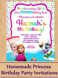 Ideas For Homemade Princess Birthday Party Invitations How To Make