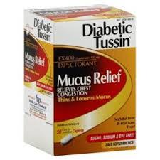 Diabetic Tussin Mucus Relief Generic Guaifenesin