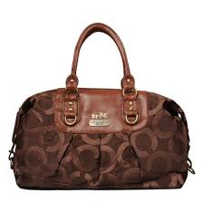 ... Coach Madison Logo Signature Large Coffee Luggage Bags 21615 ...