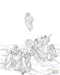 Small Picture Jesus Ascension Into Heaven coloring page Free Printable