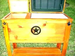 wooden ice chest en wood cooler plans outdoor for diy wooden ice chest