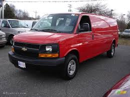 2008 Victory Red Chevrolet Express EXT 3500 Cargo Van #3572781 ...