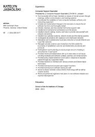 Computer Support Specialist Resume Sample Velvet Jobs Eight Sevte