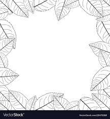 frame border.  Border Camellia Leaves Outline Frame Border Vector Image In Frame Border O