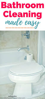 Bathroom Cleaning Made Easy | The Happier Homemaker
