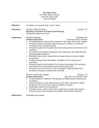 Nursing Resume Free Nurse Examples Sample Download Template 01