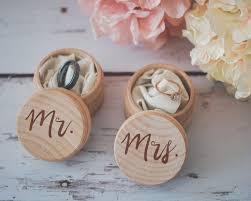 mr mrs ring box set end wedding ring box wooden ring box wedding gift ring bearer box end wooden box bridal shower gift