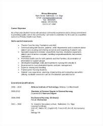 Sample Nursing Objectives For Resumes Resume Objective For Customer
