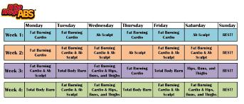 Hip Hop Abs Workout Chart Hip Hop Abs Calendar 4 Weeks Just Got This Workout