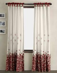 Dkny Wildflower Field Window Curtain Panel Crimson Large ...