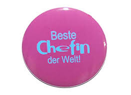Spruch Beste Chefin Der Welt Varianten Button Kühlschrankmagnet