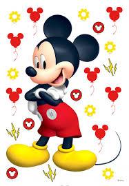 disney wall sticker mickey mouse yellow