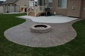 concrete patio with fire pit. Delighful Pit Floor Excellent Concrete Patio Designs With Fire Pit 1  On O
