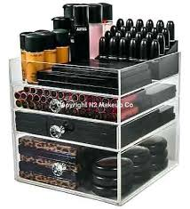 makeup storage box 2 of acrylic makeup organizer cube clear drawer storage box holder for cosmetics
