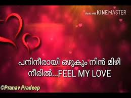 Feel My Love Malayalam Lyrical Status Created By Pranav Pradeep Mesmerizing Love Malayalam Memos