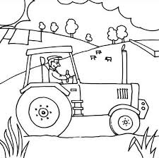 Farm Tractor Coloring Pages At Getdrawingscom Free For Personal