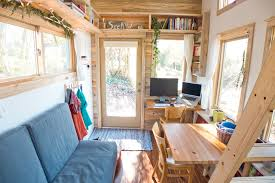 tiny house living space contemporary living room