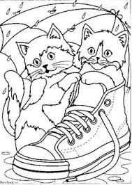 two cute cats color page icolor little bigger kids s printable activities for kids coloring book 233 dibujos para colorear