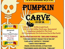 pumpkin carving contest flyer oct 29 pumpkin patch banning beaumont ca patch
