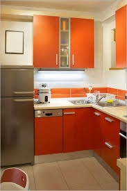 Red Kitchen Pendant Lights Light Brown Varnish Counter Top Small Kitchen Design Red Cylinder