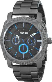 fossil watches jewelry handbags accessories more amazon com fossil men s fs4931 machine gunmetal tone stainless steel bracelet watch