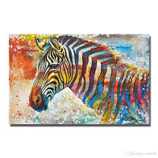 2018 canvas wall art painting hand painted cartoon animal zebra oil painting 3d hanging pictures from ouweili 5 17 dhgate com