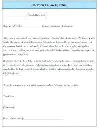 Job Interview Follow Up Email Template Post Event Thank You