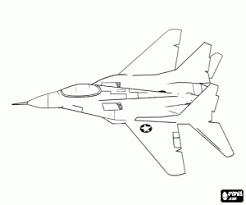 Kleurplaat Vechter Vliegtuig Kleurplaten