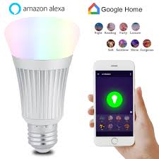 Walmart Alexa Light Bulbs Yosoo E27 7w Wifi Smart Light Bulb Wireless Dimmable Rgbw Led Lamp Voice Control