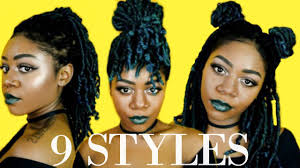 9 Ways To Style Medium Length Locs Braids Twists Protective